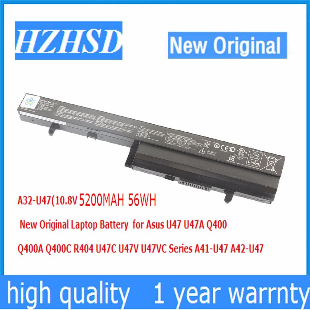 10.8 V 5200 mAh 56Wh Nouveau Original A32-U47 batterie d'ordinateur portable pour asus U47 U47A Q400 Q400A Q400C R404 U47C U47V U47VC A41-U47 A42-u47