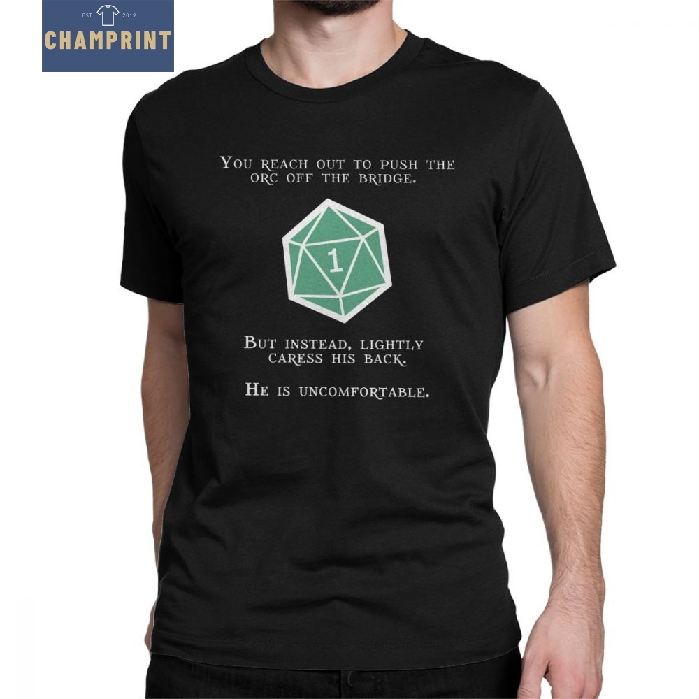Natural DnD Orc T-Shirts Men D And D Dungeons And Dragons Game Short Sleeve Tees O Neck Cotton Clothes Designs T Shirt Plus Size