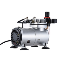 Airbrush Air Compressor Kit with Dual action Gravity Feed Airbrush 0.3mm Nozzle for Model Tattoo Makeup Cake Decorating Body Art