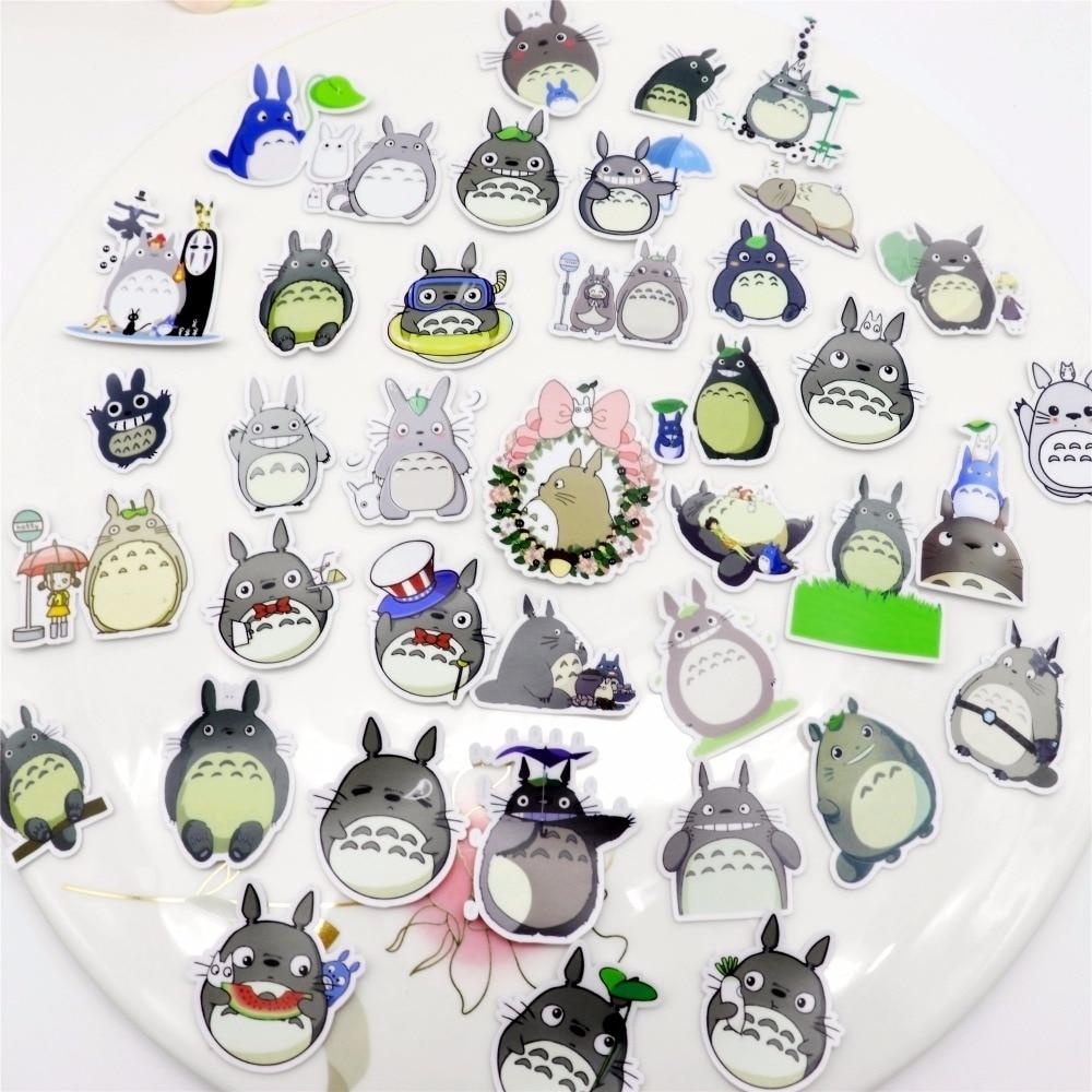 36pcs Creative Kawaii Self-made Neighbor Totoro / Castle Beautiful Stickers /decorative Sticker /DIY Craft Photo Albums