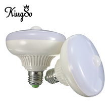 Kingso E27 12W 5630 SMD 24 LED Pure Warm White PIR Infrared Motion Sensor Lamp Auto