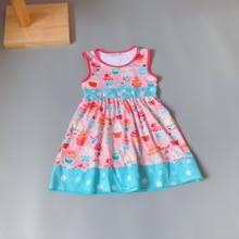 Baby Girls dress floral Flower boutique Infants toddler Kids ruffles  big girl  princess dresses frocks ice cream dress