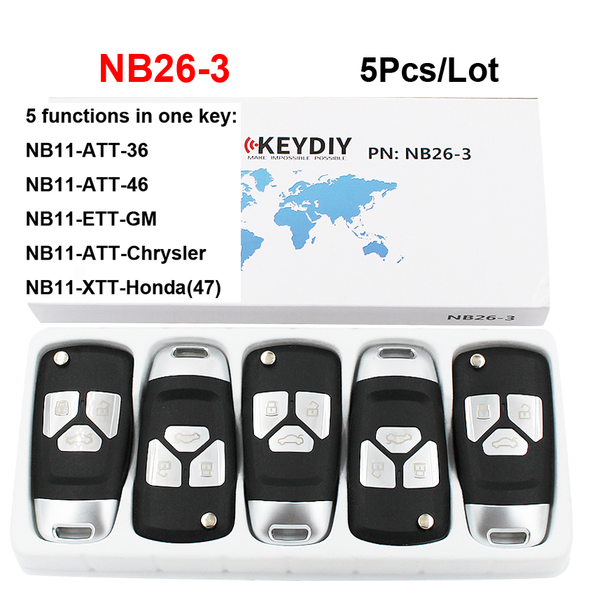 5Pcs Lot NB26 3 3 Button Multi functional KD Remote Control NB Series for KD900 KD900