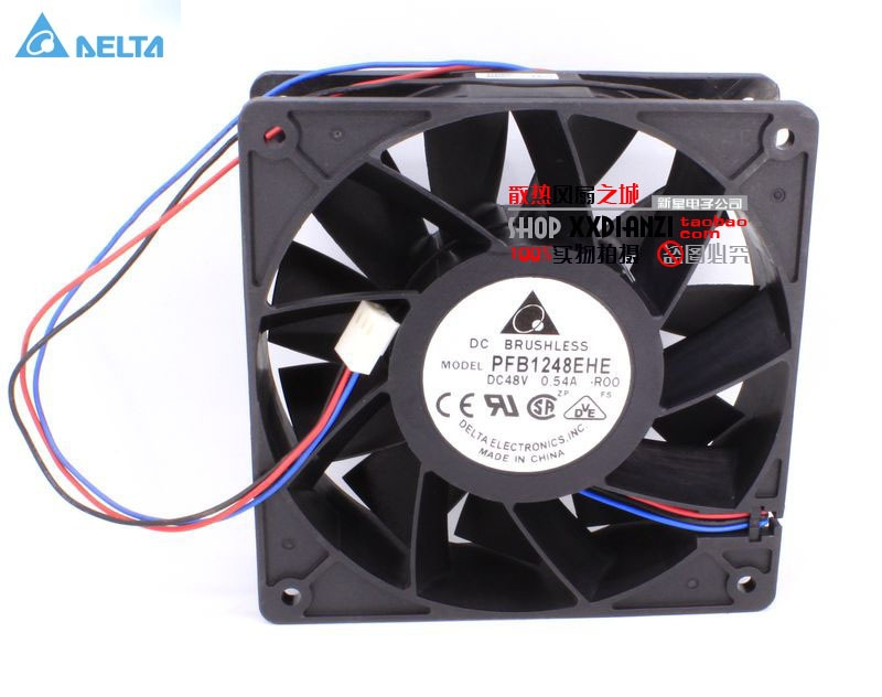 Delta PFB1248EHE -ROO DC 48V 0.54A 12038 12cm 120mm converter stall alarm cooling fan free delivery 4e 115b fan 12038 iron leaf high temperature cooling fan 12cm