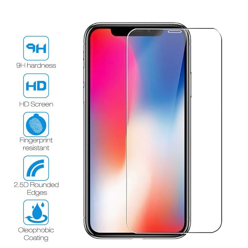 Protective-Glass Screen-Protector iPhone 9H for 7-X-Xr/xs-Max SE 4S 5S 6S HD 8