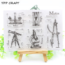 YPP CRAFT Measuring Instrument Transparent Clear Silicone Stamp Seal for DIY scrapbooking photo album Decorative clear