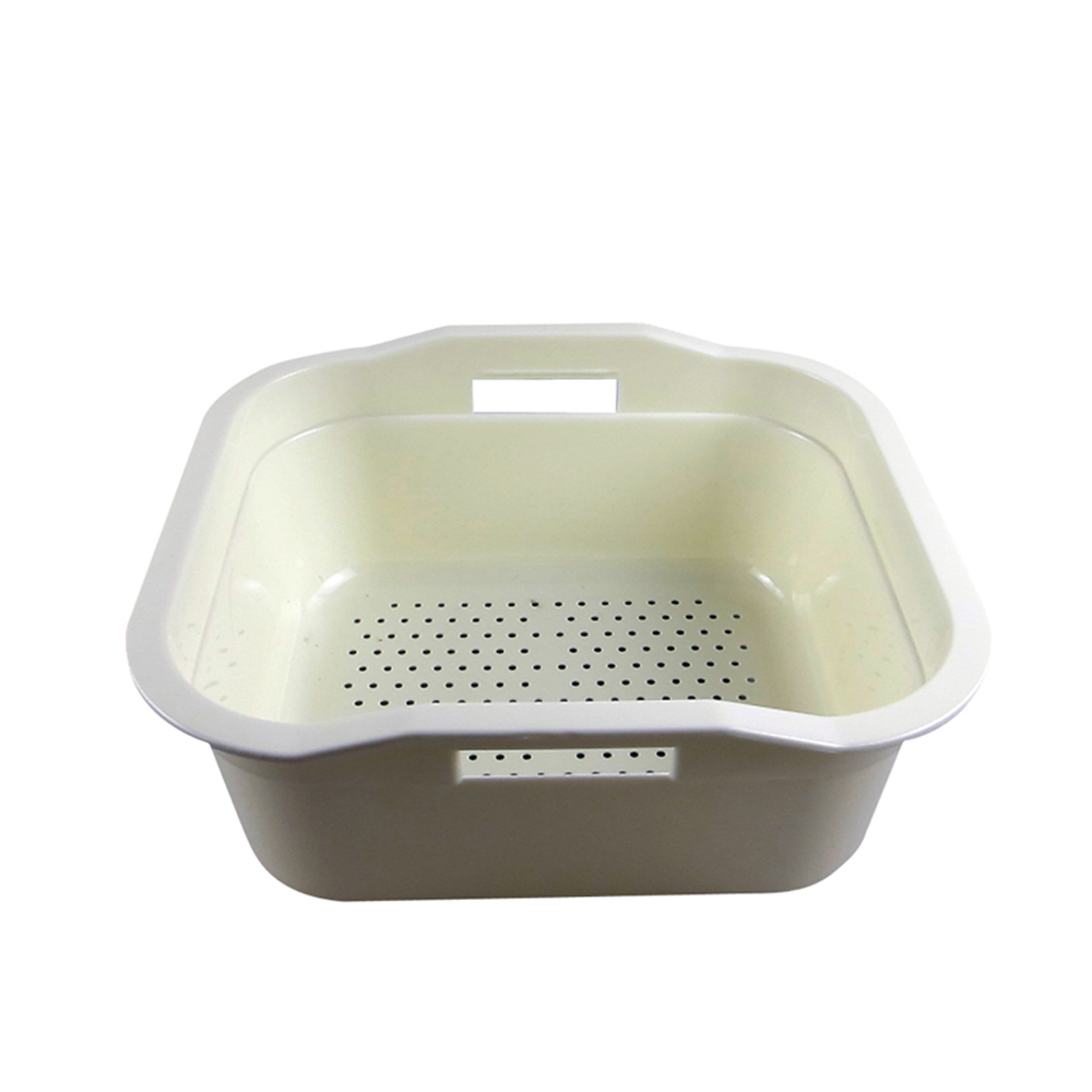 Talea Kitchen Tray Dish Drainer Drying Sink drain plastic basket Vegetable Fruit Drying Washing Holder
