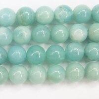 2017 Nouvelle Réel Amazonite Perles Foncé 10mm Ronde Semi-précieuses Semi Pierre Précieuse Perle Strand 15 \ '\ 'l Offre de bijoux En Gros