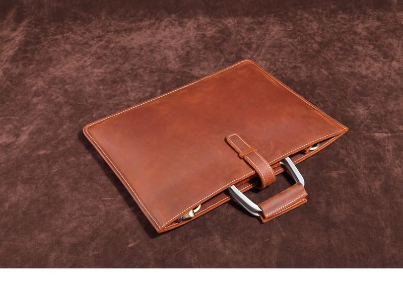HTB1whaSINSYBuNjSsphq6zGvVXar Genuine Leather Men's Handbags Crazy Horse Leather Man Retro Tote Bag Shoulder Messenger Bag Business Men Briefcase Laptop Bag