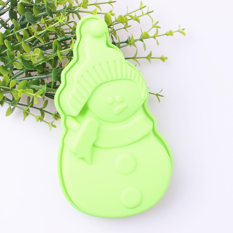 Silikonový sněhulák Forma na dort Vánoční dekorace na formu Forma na zmrzlinu Forma na čokoládu Forma na pečení Cookie Forma na sušenky