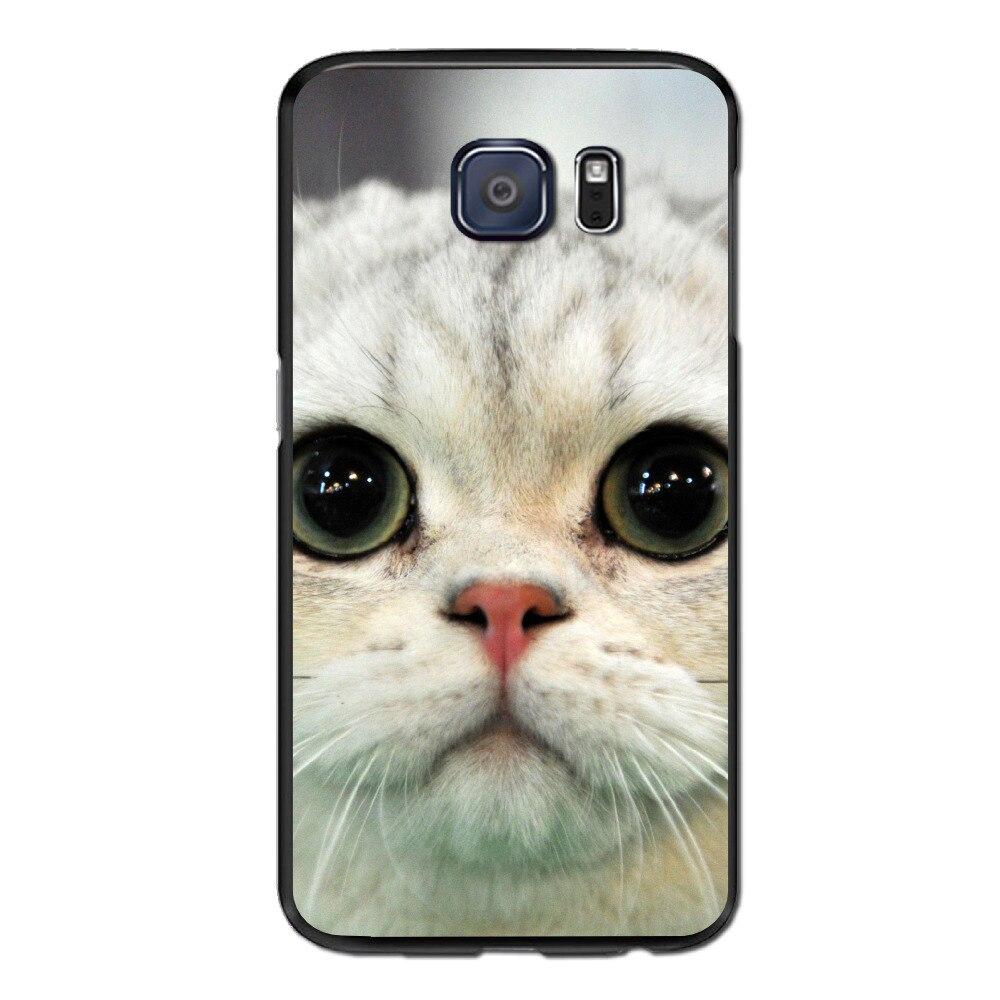 Shop2951059 Store For Samsung S7 Edge Case Anti-fingerprint design 3D printing cat (1) Anti-Knock Plastic Phone Protective case