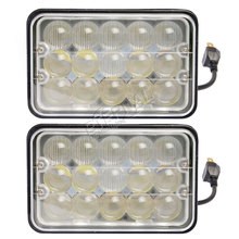 10pcs- 4x6in 45W super bright led sealed headlight universal 4x4 4D, install outside of the vehicles, dual functions this hea