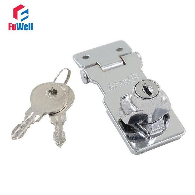 twist knob 2 5 locking hasps integrated lock chrome plated