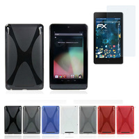 1x Clear Screen Protector Ultra Slim Silicone X Line Soft Silicon Rubber TPU Gel Shell Cover