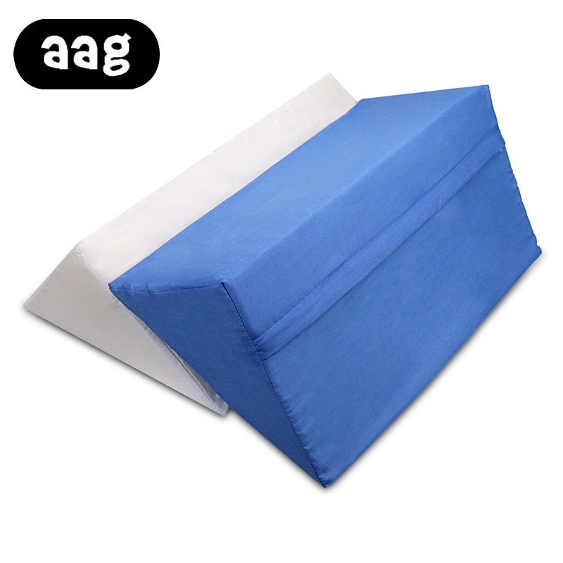 AAG Sleep Wedge Cotton Side Pillow Hospital Health care cushion pads Leg Elevation Back Lumbar Support Cushions 3 Colors
