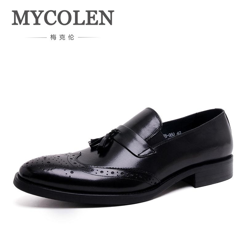 MYCOLEN Men Shoes Luxury Brand Loafers 2018 Italian Style Pointed Toe Leather Footwear Men's Casual Lace Up Oxford Shoe For Men cbjsho brand men shoes 2017 new genuine leather moccasins comfortable men loafers luxury men s flats men casual shoes