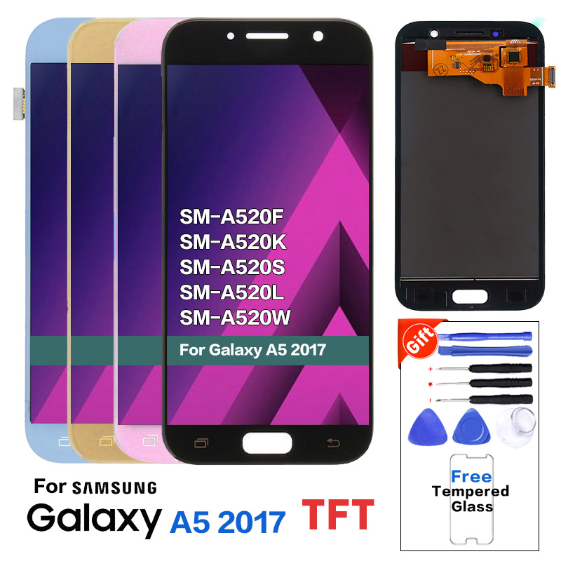 TFT LCD for <font><b>SAMSUNG</b></font> Galaxy A5 2017 LCD <font><b>Display</b></font> Touch Screen Digitizer A520 <font><b>A520F</b></font> SM-<font><b>A520F</b></font> LCD <font><b>Display</b></font> Replacement With Tools image