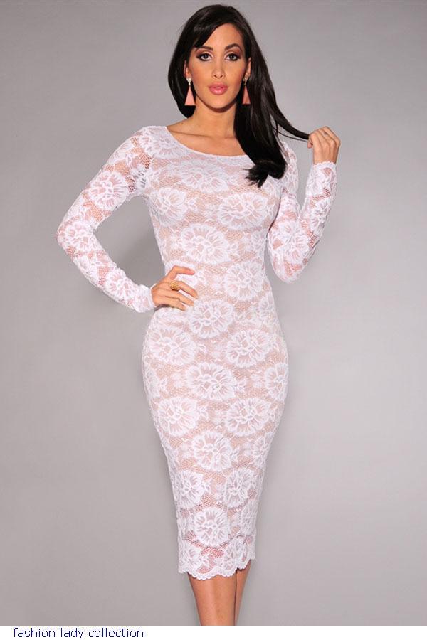 Boohoo eyelash lace bodycon dress