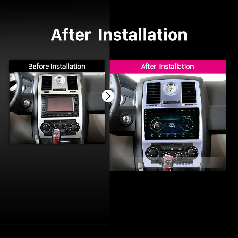 Seicane Android 8,1 четырехъядерный 2din автомобильный gps навигационный Радио мультимедийный плеер для Chrysler Aspen 300C 2004 2005 2006 2007 2008