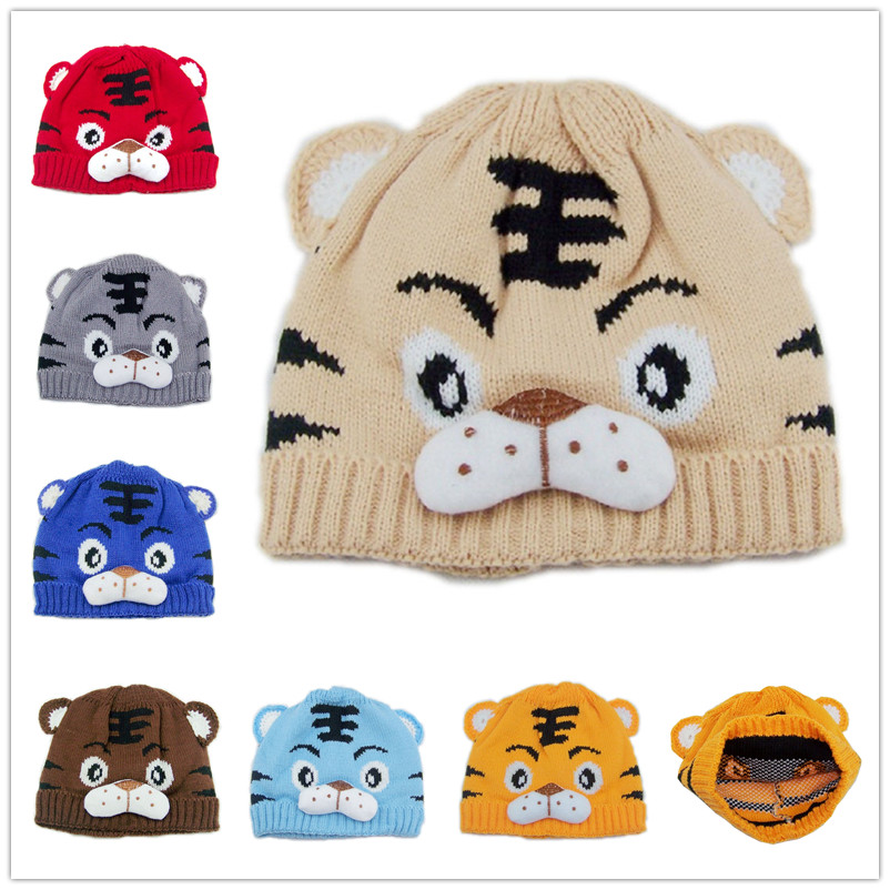 63189f07897 Bnaturalwell Baby tiger hats crochet hat animal design children tiger  beanies infant knitted caps toddler cap 1pc H001
