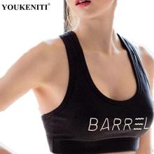 New Brand Yoga Bras Women Shakeproof Quick Dry Tank Top Letter Printed Widden Top High Elastic Sports Gym Women Yoga Bra
