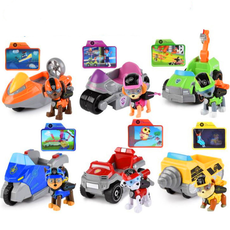 Paw patrol dog Anime Toys Figurine Plastic Toy Action Figure model patrulla canina toys Children Gifts paw patrol patrol car vehicles toys figurine plastic toy action figure model patrulla canina kids toys combination set
