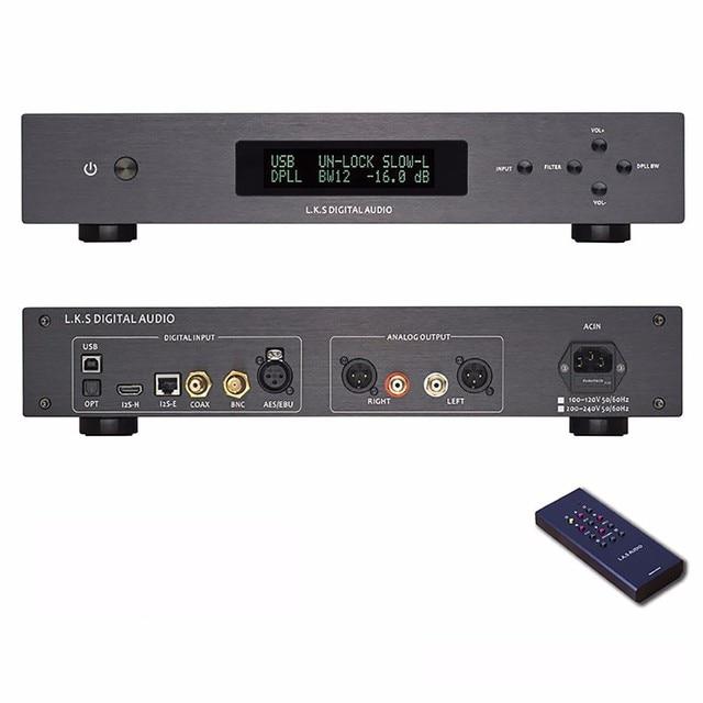 R-065 L.K.S Audio MH-DA003 MK2 ES9028pro DAC USB DSD Femto Clock 110V-240V XLR PCM and DSD decoding32/64-bit XP /Vist/ win7/win8