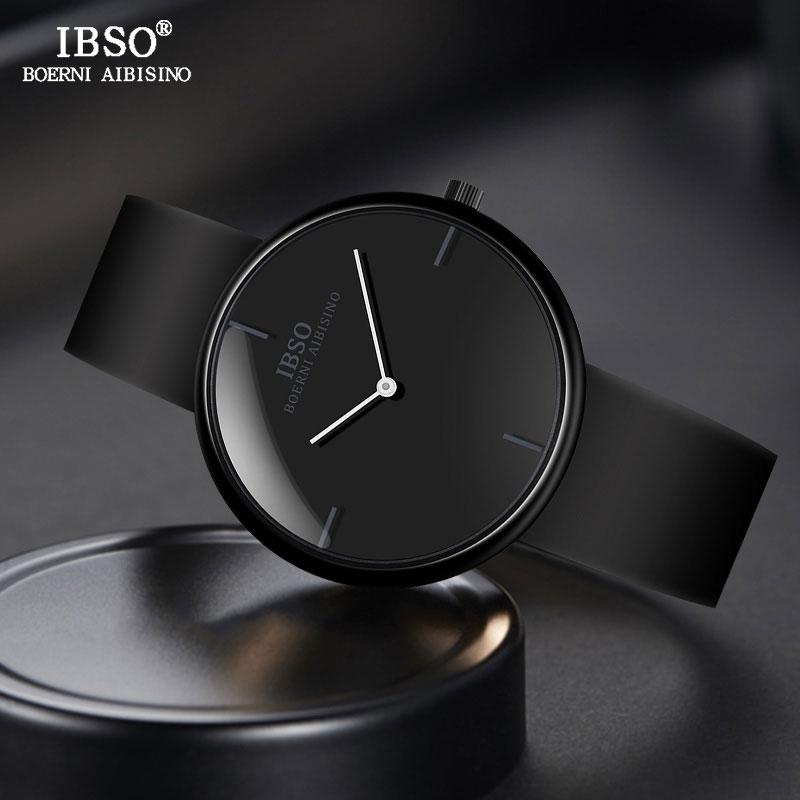 IBSO Brand Fashion Silicone Strap Watches For Male Convex Design Men Sport Quartz Watch Casual Men Wristwatch Relogio Masculino