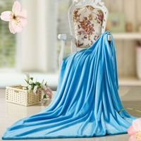 New Brand Coral Fleece Spring Blankets Plain Coloured Wool Blanket Air Conditioning Travel Portable Throw Blanket