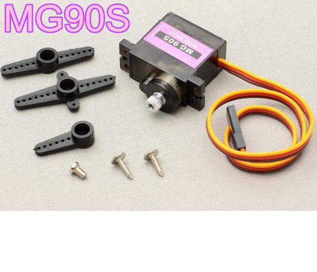 купить MG90S 9g Metal Gear Digital Micro Servo 9g RC servo motor for  Helicopter Plane Boat 450 Car DIY Robot дешево