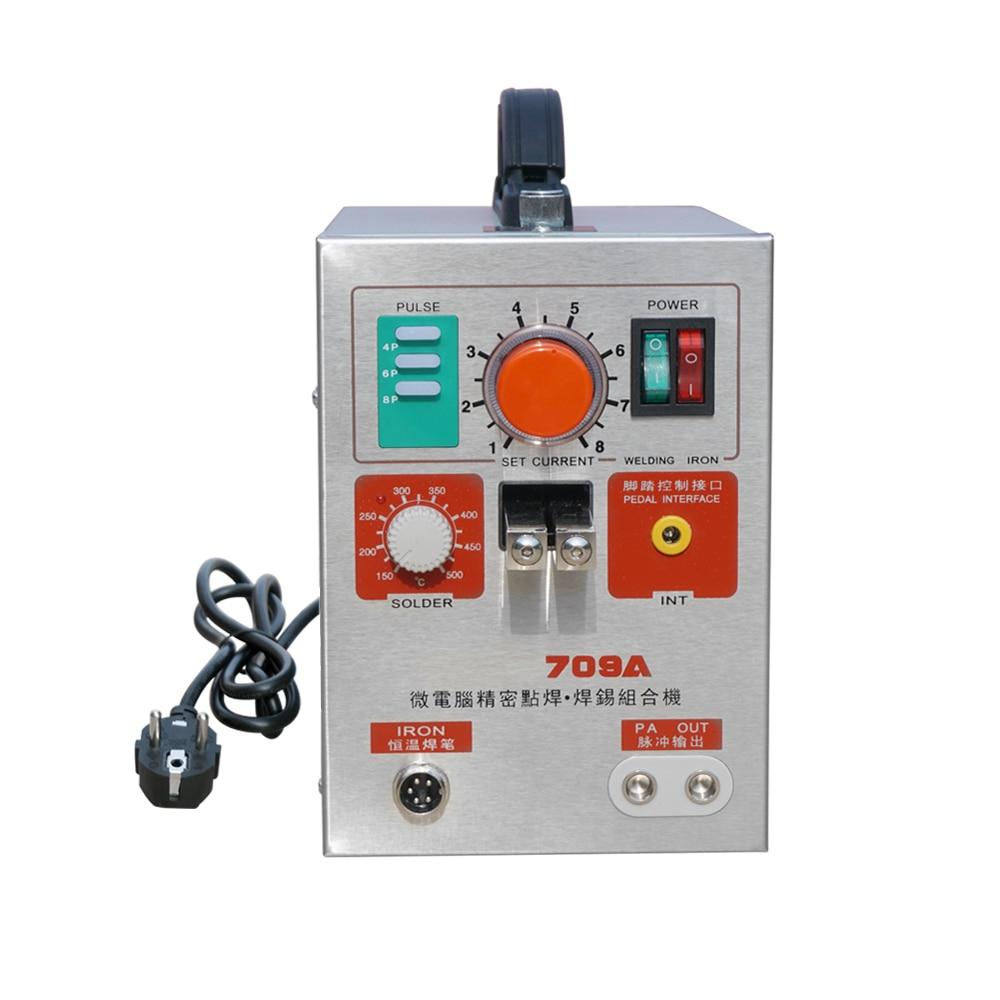 1.9KW светодиодный импульса Батарея точечной сварки 709A сварочный аппарат паяльник для 18650 16430 14500 Батарея Pack
