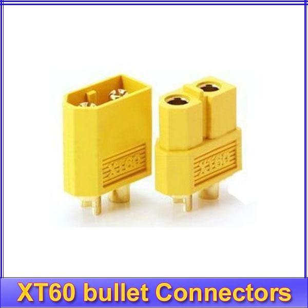 5pair/lot XT60 bullet Connectors plugs Male/Female for RC Lipo Battery hot sale xt60 10 pairs male female bullet connectors plugs for rc lipo battery
