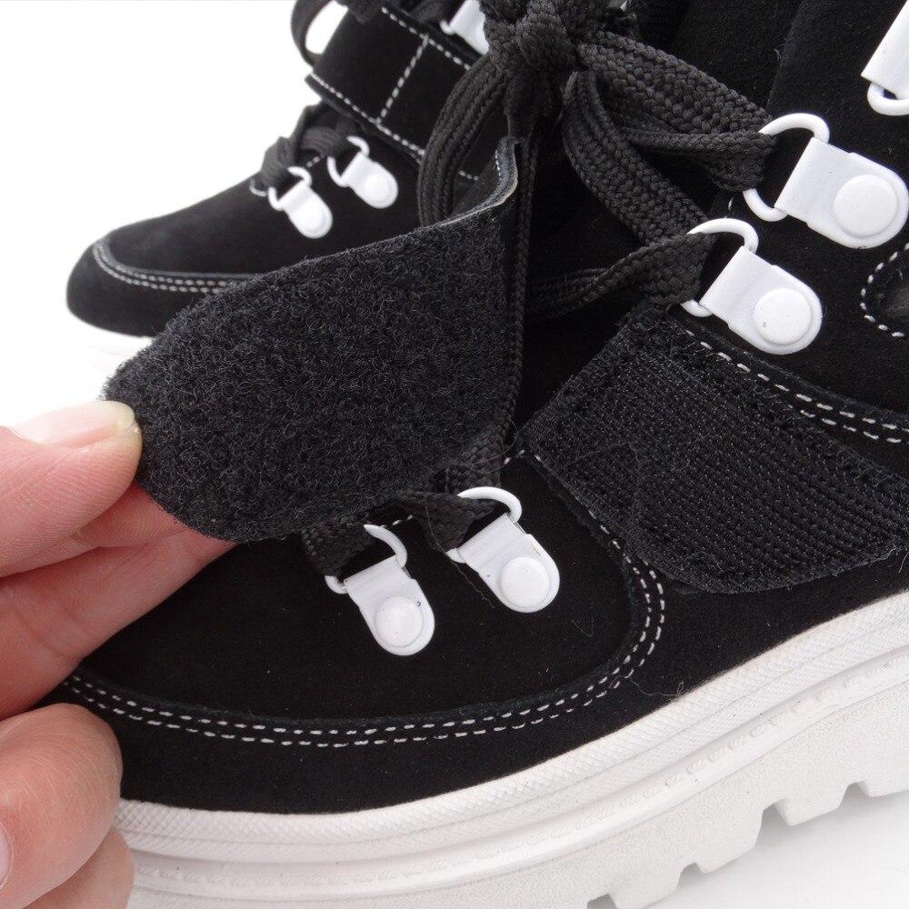 Tornozelo botas femininas 2020 inverno camurça tornozelo boot feminino rendas até apartamentos plataforma confortável punk boot preto sapatos marrons - 6