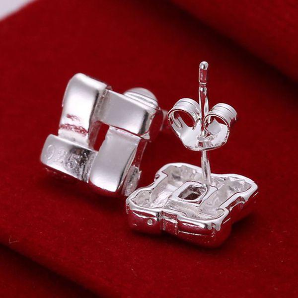 Модные посеребренные серьги для Для женщин 925 ювелирные изделия с серебряным покрытием для Для женщин groined Форма Серьги E029/hdbefvrxe029