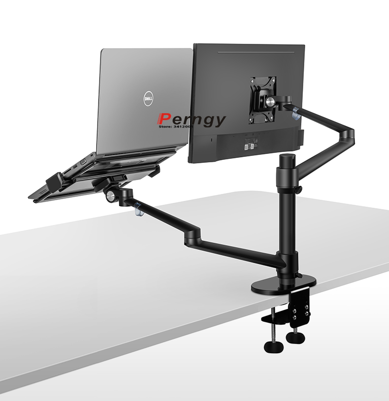 OL-3L Multimedia <font><b>32inch</b></font> LCD Monior Desktop Stand Dual Arm + 17