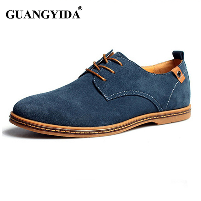 Men shoes 2017 New Fashion Suede Leather shoes Men Casual shoes oxfords for Spring Summer Dropshipping