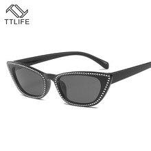TTLIFE 2019 New Women Cat Eye Vintage Sunglasses Brand Designer Retro Points Sun Glasses Superstar Female Lady Eyeglass YJHH0113