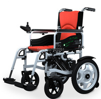 BZ 6401 Red High Quality Folded And Safety Electric Folded Lightweight Battery Powered Wheelchair With Shopping