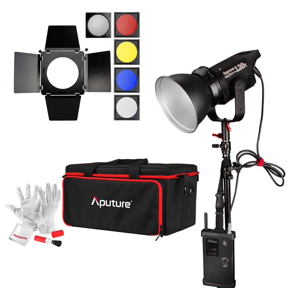 Aputure Light Storm COB 120t CRI97+ 3000K 135W Bowens Mount LED Continuous Video Light with 2.4G Wireless Remote + NiSi Diffuser aputure ls c120d portable professional studio tlci cri 96 6000k led video light continuous lighting daylight with bowens mount