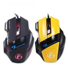 3200 DPI Óptico LED 7 Botones Ajustable USB Wired Juego Gaming Mouse para PC Portátil periféricos Informáticos Promoción