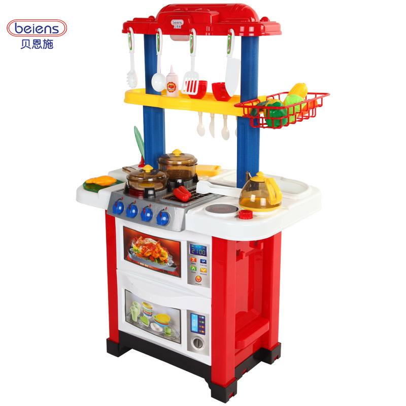 Play Kitchen Set aliexpress : buy beiens play kitchen set abs plastic kid food