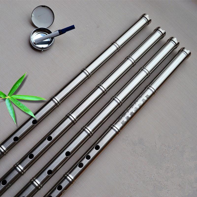 SS304 Metal Flute Xiao not Dizi 80cm G/ F Key Xiao Flute Transverse Flute Professional Metal Flautas Xiao Self-defense Weapon цена