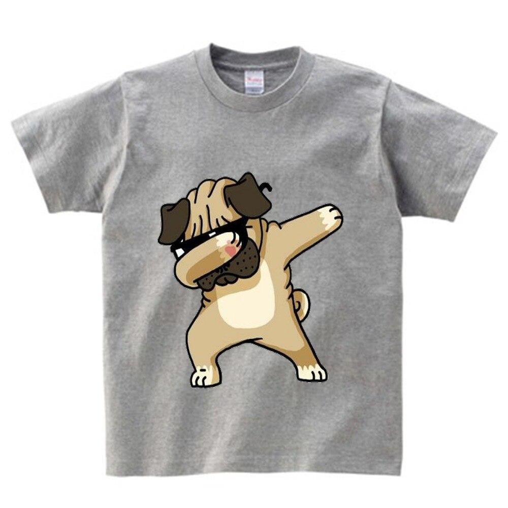 Cotton Boys Summer Tops Tee Dab Panda Dog Children funny T shirt  Dabbing Dance T-shirt For Kids Girls Celebrations Tshirt  NN
