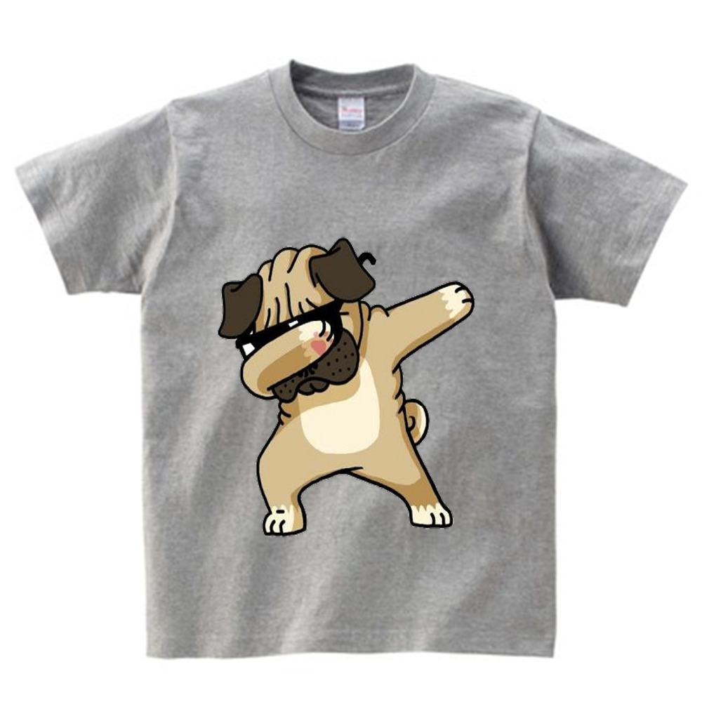 Cotton Boys Summer Tops Tee Dab Panda <font><b>Dog</b></font> Children funny T shirt Dabbing Dance T-shirt For Kids Girls Celebrations <font><b>Tshirt</b></font> NN image