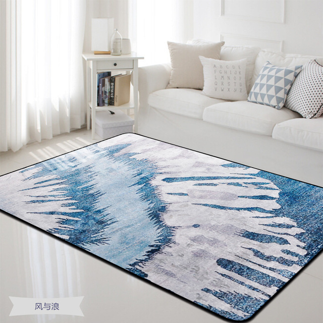 Nordic Gray Blue Carpets Living Room Bedroom Home Decor Carpet Rugs ...