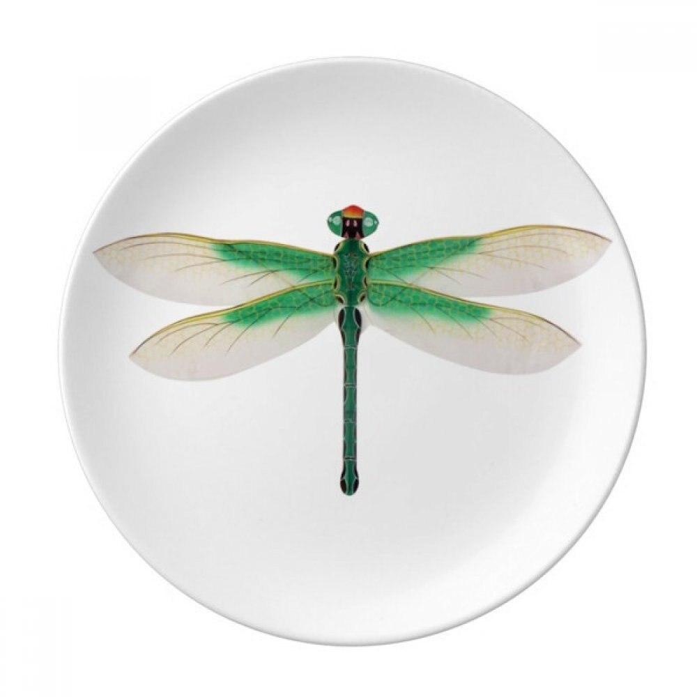 Cerf-volant chinois traditionnel motif libellule assiette à Dessert porcelaine décorative 8 pouces dîner maison