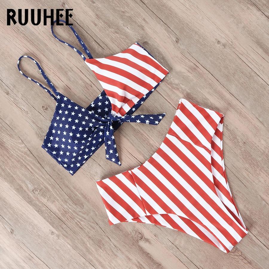 HTB1whdwefWG3KVjSZFgq6zTspXan RUUHEE Bikini Swimwear Women Swimsuit 2019 High Waist Bikini Set Push Up Front Knot Bathing Suit Women Summer Beach wear Biquini