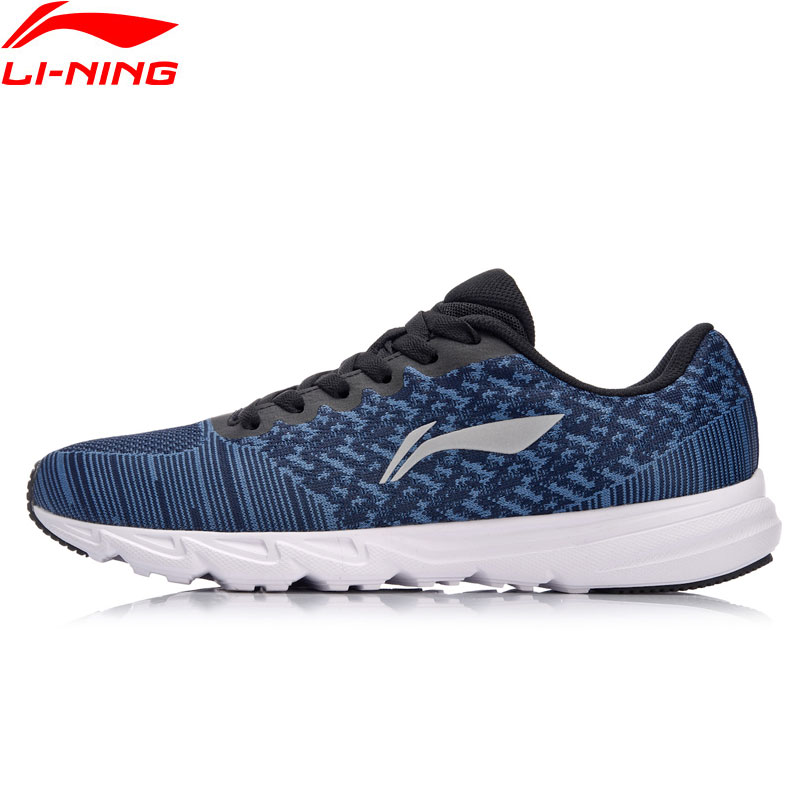 Li-Ning Men EZ RUN Cushion Running Shoes Light Weight Sneakers Wearable Footwear Anti-Slippery LiNing Sport Shoes ARBN019 XYP637 cтеппер bs 803 bla b ez