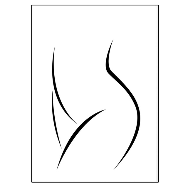 Woman Body Sketch Wall Art Canvas Female Figure Drawing Posters And Nude Girl Prints Naked Body Painting Pictures Bedroom Decor Painting Calligraphy Aliexpress