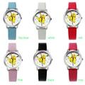 Envío Gratis Top Marca de Moda Pocket Monster Pikachu Reloj Muchacha de Los Niños de Las Mujeres Reloj de Cuero Reloj de Pulsera de Cuarzo Cut Precioso
